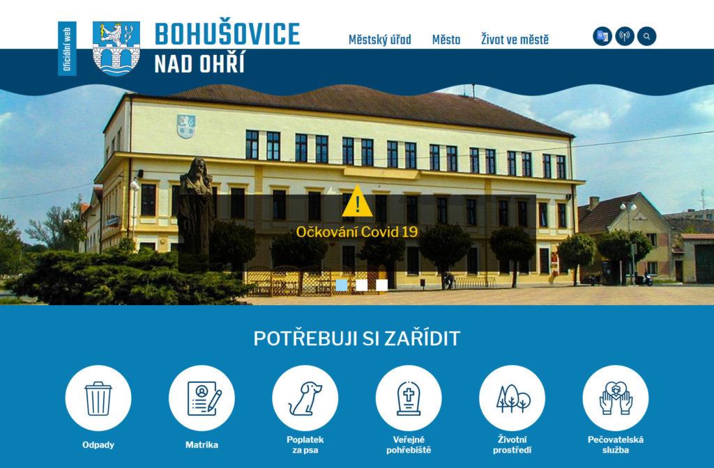 Web - Město Bohušovice nad Ohří