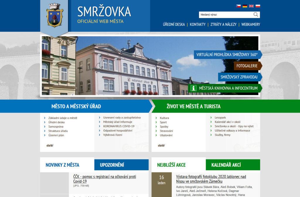 Web - Město Smržovka