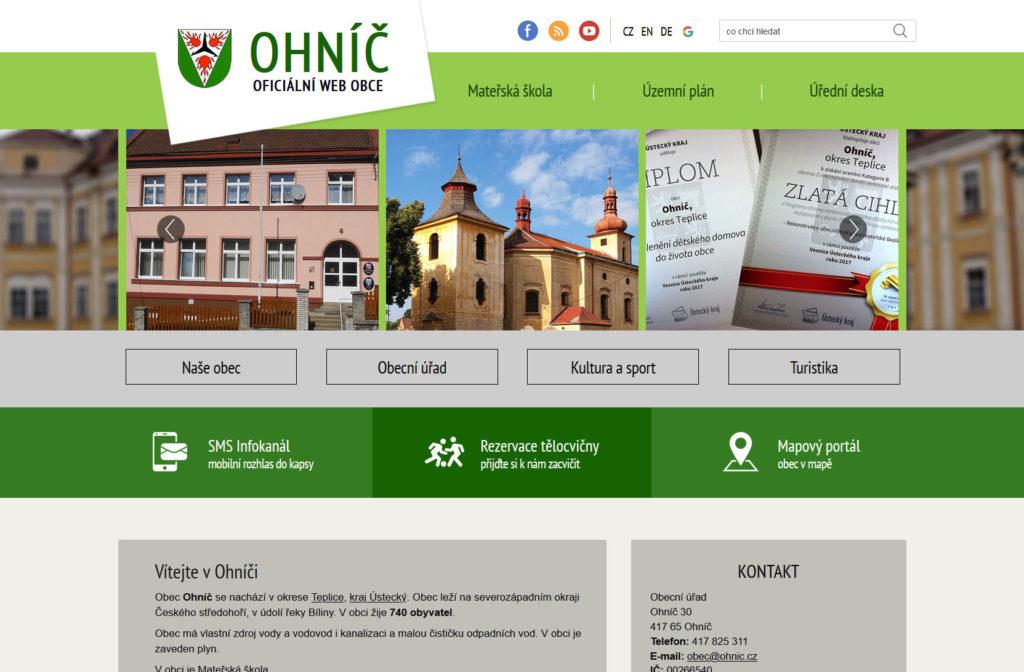 Web - Obec Ohníč