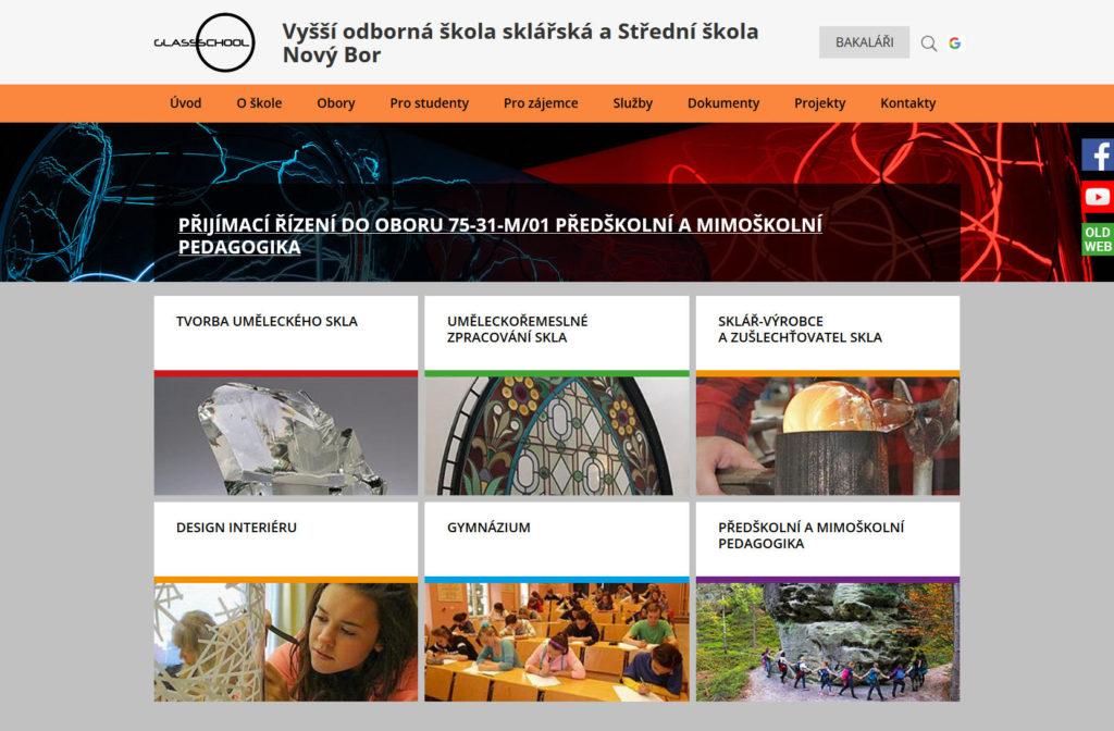 Web - Glassschool Nový Bor